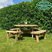 Eight Seater Round Picnic Table